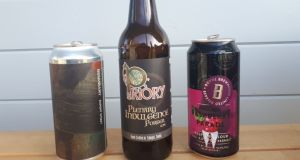 Spring beers to try:  a stout,  porter and   raspberry sour