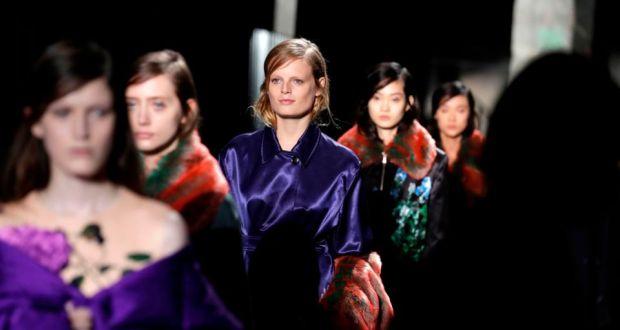 Paris Fashion Week Dries Van Noten Showcases Romantic New Collection