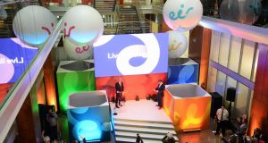 The launch of the Eir brand in 2015. Photograph: Eric Luke