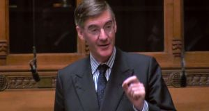 Jacob Rees-Mogg: now says  he could vote for the prime minister's deal even if the Northern Ireland backstop was not replaced.  Photograph: Ho Pru/AFP/Getty (