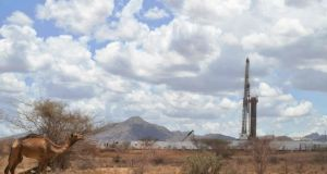 A Tullow Oil drilling block in Kenya. Photograph: Tony Karumbatony/Getty Images