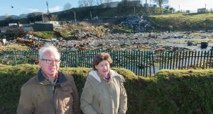 Cllr Ted Tynan and local resident Noreen Murphy by site of Ellis's Yard near Spring Lane, Cork City: Photograph: Michael Mac Sweeney/Provision