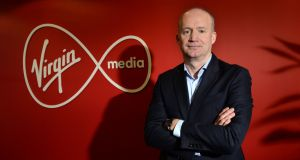 Tony Hanway, chief executive of Virgin Media Ireland. Virgin Media Television rebranded its channels in autumn 2018. Photograph: Dara Mac Dónaill