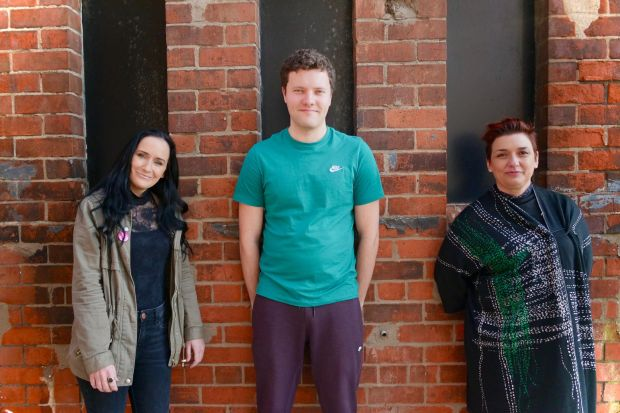 Playwright Fionnuala Kennedy, actor Conor J Maguire and director Emma Jordan.