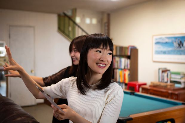 Tidying up with Marie Kondo has been a hit on Netflix. Photograph: Denise Crew/Netflix