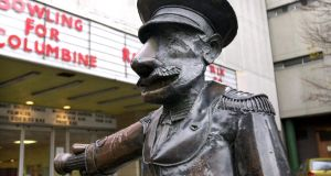 The well-known statue of the cinema usher which once stood outside the Screen Cinema. Photograph: Matt Kavanagh