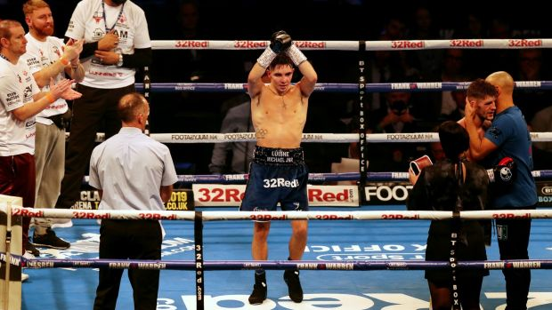 Michael Conlan beat Jason Cunningham in Manchester last December. Photograph: Inpho