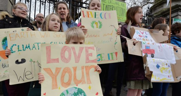 Irish children strike a climate blow: 'If we don't do this, we won't ...