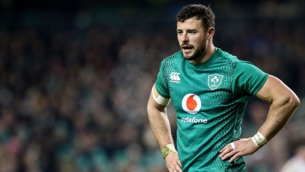 Ireland's Robbie Henshaw: a beast of a 12. Photograph: Inpho/Gary Carr