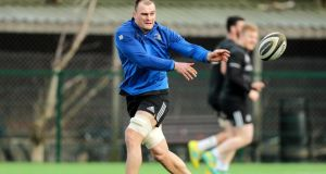Rhys Ruddock will captain Leinster for their clash with Cheetahs following his recovery from a hamstring injury. Photograph:  Laszlo Geczo/Inpho