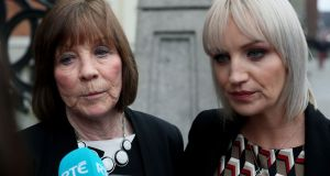 Clodagh Hawe's mother, Mary Coll (left), and her sister, Jacqueline Connelly, have rejected expert medical evidence given at the inquest which said Alan Hawe was suffering from depression and psychosis. Photograph: Brian Lawless/PA Wire