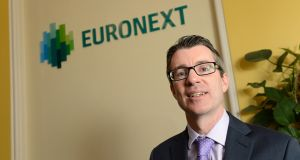 Daryl Byrne, chief executive at Euronext Dublin, formerly known as the Irish Stock Exchange. Photograph: Dara Mac Donaill
