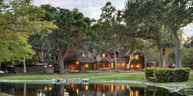Neverland: the main residence at Michael Jackson's former ranch