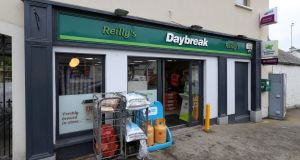 Reilly's Daybreak shop, in Naul where €175 million winning Euromillions ticket was bought. Photograph: Collins