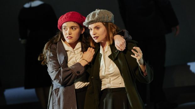 The Country Girls: Grace Collender as Kate and Lola Petticrew as Baba in the Abbey Theatre's new version of Edna O'Brien novel. Photograph: Ros Kavanagh