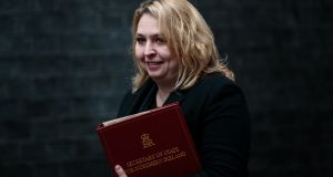 Northern Ireland secretary of state Karen Bradley plans to fund some increases in key public service budgets by increasing rates, in a move not welcomed by businesses organisations. Photograph: Jack Taylor/Getty Images