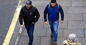 Salisbury Novichok poisoning suspects Alexander Petrov and Ruslan Boshirov: accused with the attempted murder of the Skripals as well as the murder of Dawn Sturgess. Photograph:  Metropolitan Police