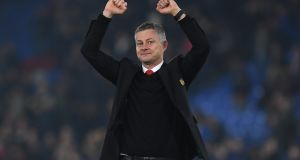 Manchester United interim manager Ole Gunnar Solskjaer: 'I think my players see as well that I do enjoy this.' Photograph: Mike Hewitt/Getty Images