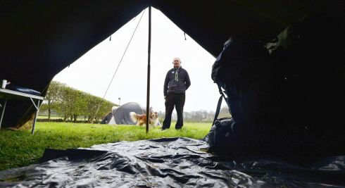 John Butler, manager of the Portlick Scout Campsite on the bank of Lough Ree near Athlone in Co Westmeath, preparing for 450 campers for the weekend. Photograph: Alan Betson/The Irish Times