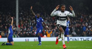 Ryan Sessegnon's late effort was disallowed for offside. Photograph: Eddie Keogh/Reuters