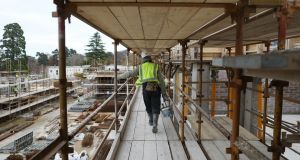 CSG report notes the level of labour productivity in Irish building is 'well below the EU average for construction sectors'. File photo.