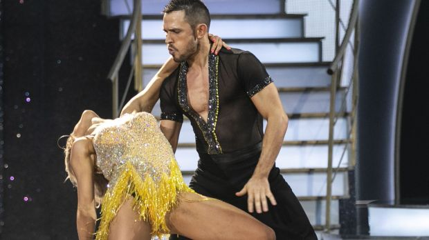 Johnny Ward and Emily Barker on Dancing With The Stars. Photograph: Kyran O'Brien