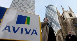 Aviva head office in London: insurer employs about 1,650 people in Ireland. Photograph: Reuters
