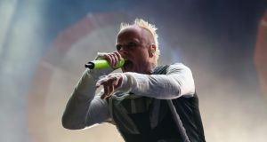 Keith Flint of The Prodigy, performs at the 10th annual Incheon Pentaport Rock Festival in Incheon, west of Seoul in 2015. Photograph: Ed Jones /AFP/Getty Images