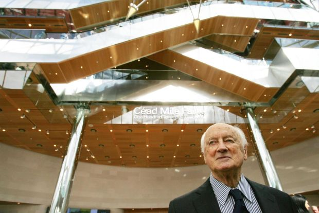 Kevin Roche: the architect at the opening of Convention Centre Dublin, in 2010. Photograph: Bryan O'Brien