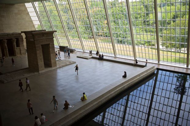 Kevin Roche: the late architect's glass enclosure for the Temple of Dendur. Photograph: Benjamin Norman/NYT