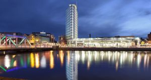 CGI artist's impression of the Prism building, Cork