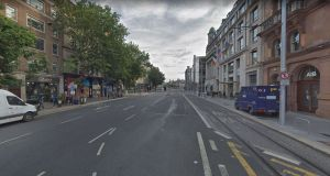The incident occured around 7.40am on Monday on Westmoreland Street in Dublin city centre. Photograph: Google Street View