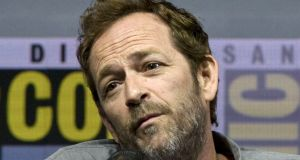 Luke Perry speaking  during a panel discussion at Comic Con International in San Diego, California, last July. Photograph: David Maung/EPA.