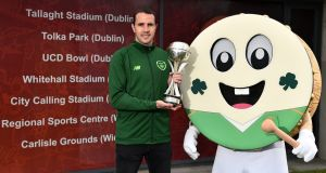 Former Republic of Ireland international John O'Shea has been  named as  tournament ambassador for the upcoming UEFA Under-17 European Championship that takes place in Ireland  from May 3rd to 19th. Photograph:  Seb Daly/Sportsfile