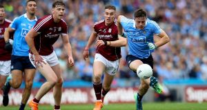 "Brian Howard in action against Galway: ""The thing for me making that transition from minor and under-21s was having Brian Fenton there as an icon for me and as a friend."" Photograph: Ryan Byrne/Inpho"