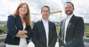 Jayne Brady, Kernel Capital; Alan Foreman, chief executive of B-Secur; and Andrew Sloane, Accelerated Digital Ventures. B-Secur has secured €4.66m in funding and plans to expand