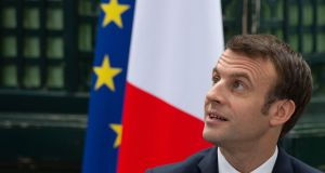 "French president Emmanuel Macron: Brexit ""symbolises the crisis of Europe"", he  argues in his letter. He indirectly accuses Brexiteers of irresponsibility and lying.  Photograph: Caroline Blumberg/AFP/Getty"