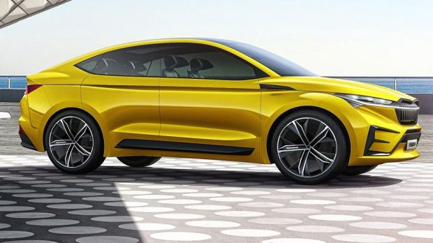 Skoda's Vision IV concept is a large (4.6-metres long) SUV-coupe, not dissimilar to BMW's X6 or Mercedes GLE Coupe