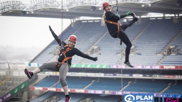 Abseil 150ft from the Hogan Stand to support Plan International's Because I am a Girl campaign.