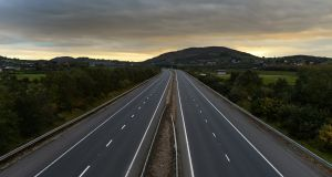 The Belfast to Dublin motorway crosses the Border line between Northern Ireland and the Republic. Photograph:  Charles McQuillan/Getty Images