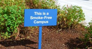Trinity joins a growing number of campuses across Ireland, including the University of Limerick, which became tobacco-free in June 2018. The institutes of technology in Westport, Carlow and Athlone are also smoke-free. Photograph: iStock
