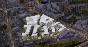 A view of the planned development Charlemont Square, in Dublin 2.