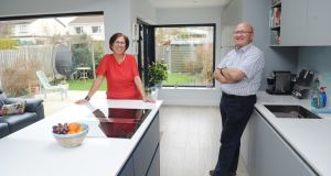 Patricia and Tom McDonagh  in their kitchen in Portmarnock, Dublin. Photograph: Aidan Crawley/ The Irish Times