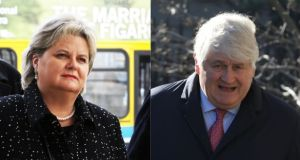Angela Kerins (left) and Denis O'Brien have both brought cases before the Supreme Court in recent times. Photographs: Collins Courts