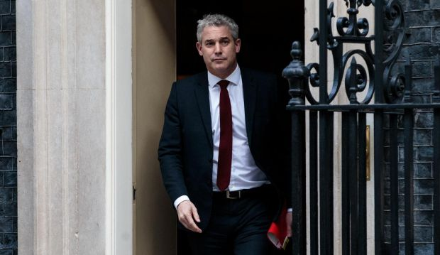 UK Brexit secretary Stephen Barclay at 10 Downing Street in London on Tuesday. Photograph: Jack Taylor/Getty