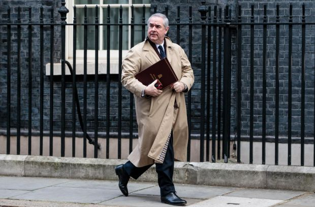 British attorney general Geoffrey Cox pictured outside 10 Downing Street following a weekly cabinet meeting on Tuesday. Photograph: Jack Taylor/Getty