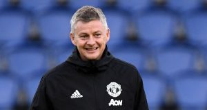 "Ole Gunnar Solskjær: ""We can do it – obviously we need the first goal and we need to stay in the game for half an hour left and one goal in it anything can happen.""  Photograph: Franck Fife/AFP/Getty"