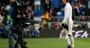 Real Madrid's Luka Modric after his team's 4-1 defeat to Ajax. Photograph: Susana Vera/Reuters