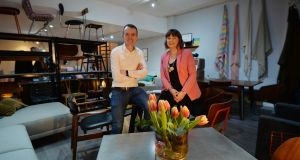 Arthur and Grainne Cassidy inside their store, Pieces, on South Great George's Street. Photograph: Alan Betson