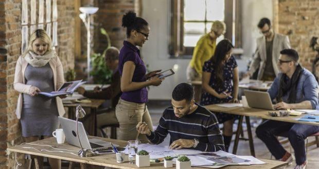 """""""The practical benefits of co-working spaces are significant. They can enable people to work closer to home, or to their region of responsibility and avoid high property prices and long commutes."""" Photograph: iStock"""